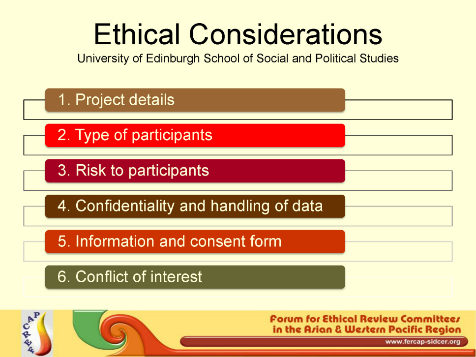 ethical consideration project